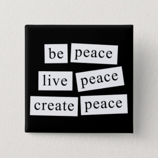 Be Peace Button