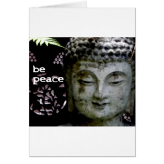 Be Peace - Serene Buddha Face -Black/White Card