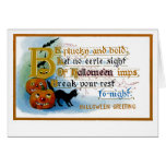 Be Plucky and Bold at Halloween Greeting Card