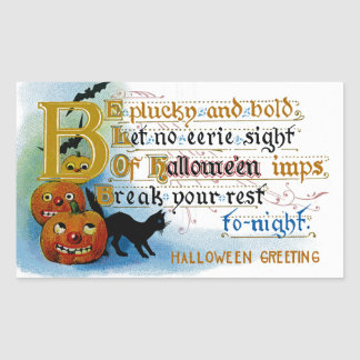Be Plucky and Bold at Halloween Sticker