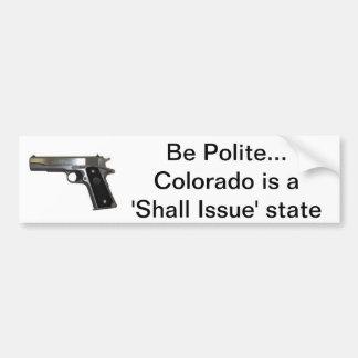 Be Polite Bumper Sticker