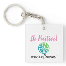 Be Positive Fly Lime Keychain