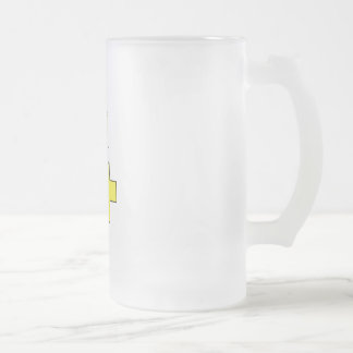 Be Positive Frosted Glass Beer Mug