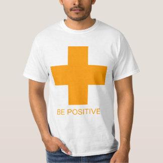 BE POSITIVE Orange T T-shirt