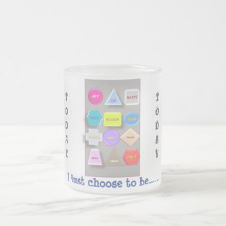 Be positive today frosted glass coffee mug