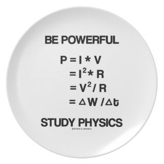 Be Powerful (Power Equations) Study Physics Plate