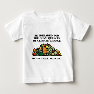Be Prepared Consequences Climate Change Vegetarian Baby T-Shirt