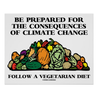 Be Prepared Consequences Climate Change Vegetarian Poster
