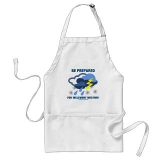 Be Prepared For Inclement Weather (Storm Clouds) Adult Apron