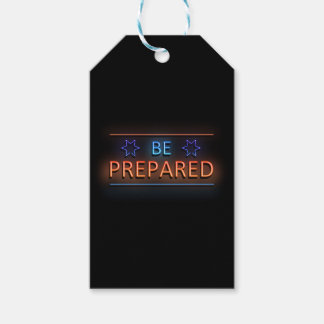 Be prepared. gift tags