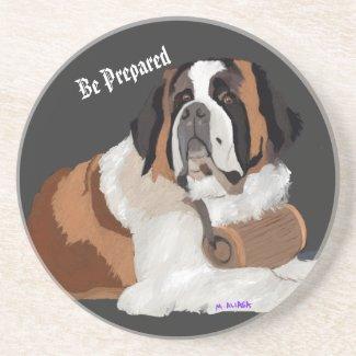 Be Prepared!  St. Bernard with keg Coaster