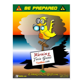 "Be Prepared with ""Gas Can"" Postcard"