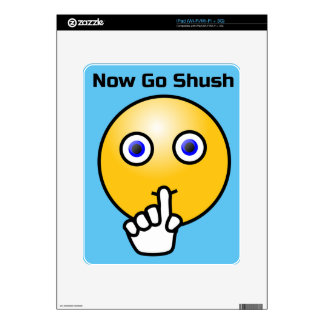 Be Quiet Go Shush Emoticon Decals For The iPad