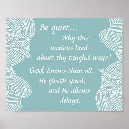 Be Quiet Poster