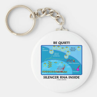 Be Quiet! Silencer RNA Inside (Cell Biology) Keychains