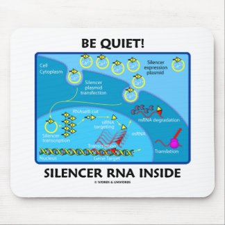 Be Quiet! Silencer RNA Inside (Cell Biology) Mouse Pads