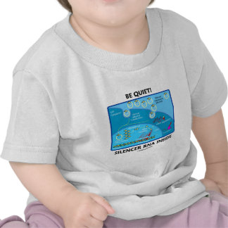 Be Quiet! Silencer RNA Inside (Cell Biology) T-shirts
