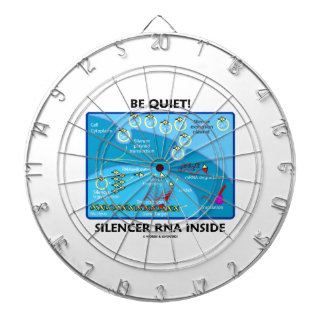 Be Quiet! Silencer RNA Inside (Molecular Biology) Dartboard With Darts