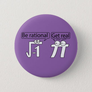 Be Rational! Get Real! Button