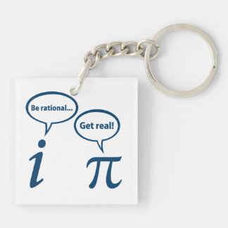 Be Rational Get Real Imaginary Math Pi Keychain