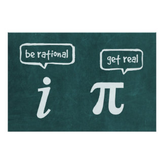 Be Rational! - Math Poster