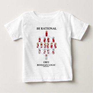Be Rational Obey Boolean Logic (Hasse Diagram) Infant T-shirt