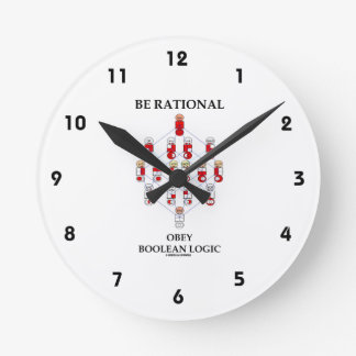 Be Rational Obey Boolean Logic (Hasse Diagram) Round Clock