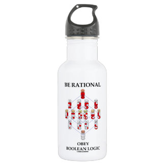 Be Rational Obey Boolean Logic (Hasse Diagram) Water Bottle