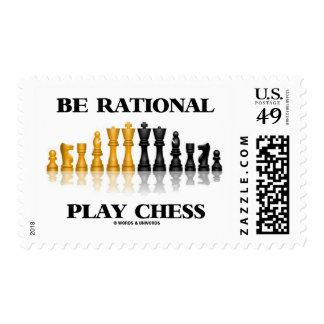 Be Rational Play Chess (Reflective Chess Set) Postage Stamps