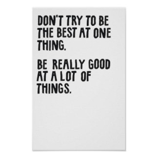 Be Really Good. Posters