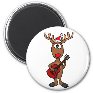 BE- Reindeer Playing Guitar Magnet