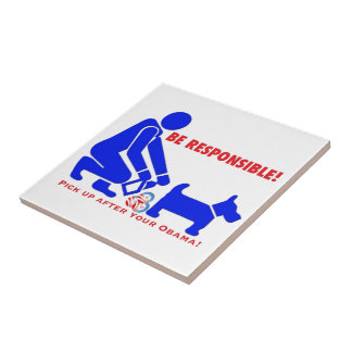 Be Responsible and cleanup your Obamanation Ceramic Tiles
