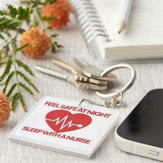 Be safe at night sleep with a nurse keychain