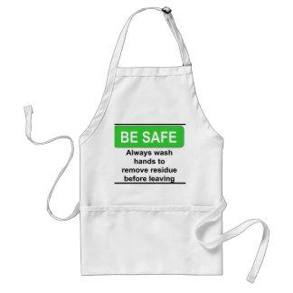 Be Safe Sign Adult Apron