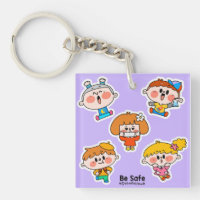 Be Safe Stay Home Keychain
