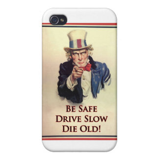 Be Safe Uncle Sam Poster Case For iPhone 4