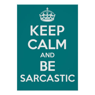 Be Sarcastic Poster