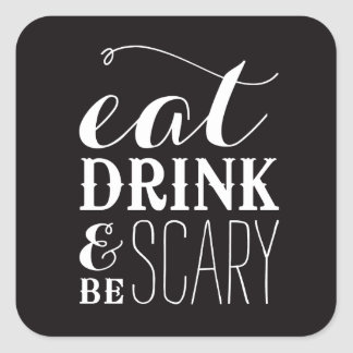 BE SCARY   HALLOWEEN STICKERS