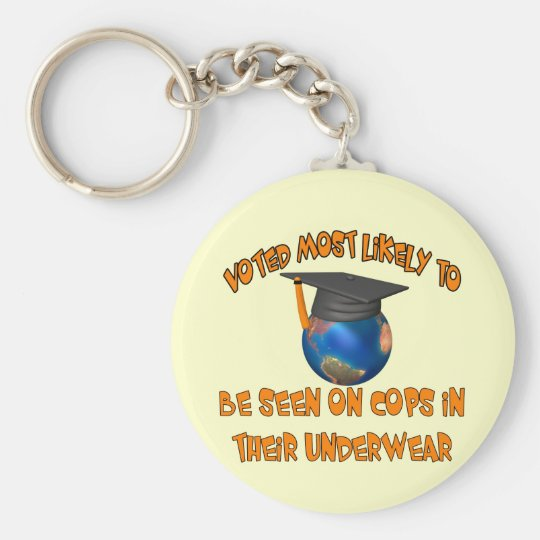 Be Seen On Cops Keychain