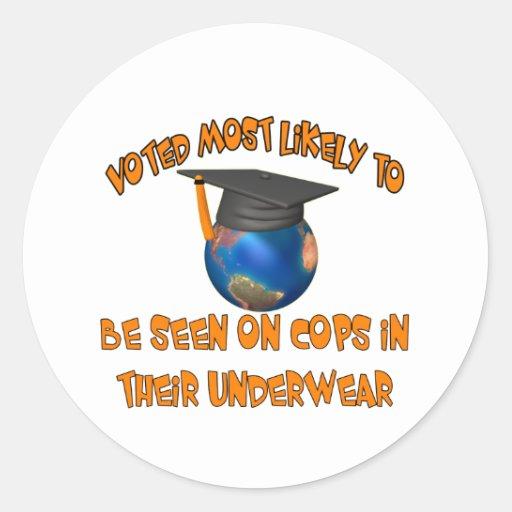 Be Seen On Cops Round Sticker