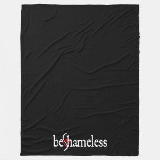 Be Shameless Fleece Blanket