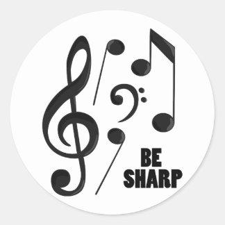 Be Sharp Classic Round Sticker