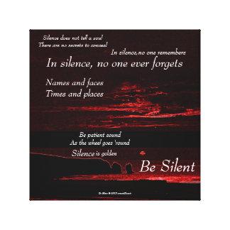 Be Silent (2b) / Canvas Print