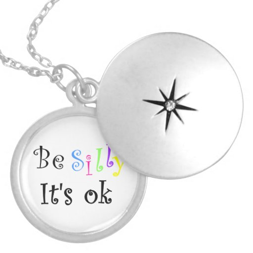 Be Silly It's ok-locket Round Locket Necklace