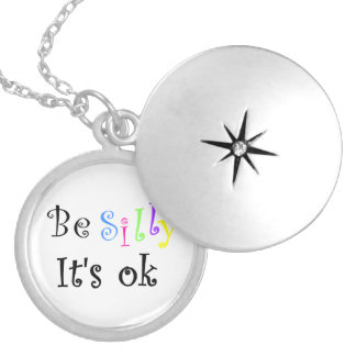 Be Silly It's ok-locket Silver Plated Necklace