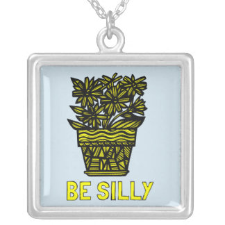 """""""Be Silly"""" Sterling Silver Necklace"""