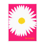 Be Simple. Stretched Canvas Prints