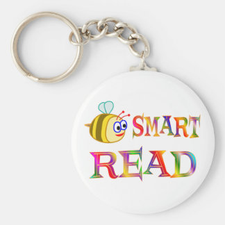Be Smart, Read Basic Round Button Keychain
