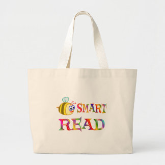 Be Smart, Read Large Tote Bag
