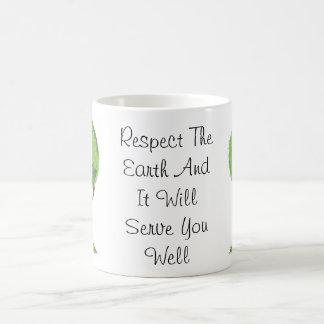 BE SMART RECYCLE CLASSIC WHITE COFFEE MUG